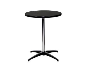 CT300 Pedestal Table 24 x 30 Black Rental