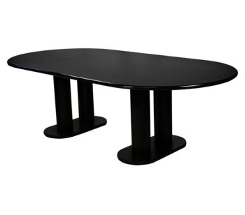 CF608 Oval Conference Table 48x96 Black Rental