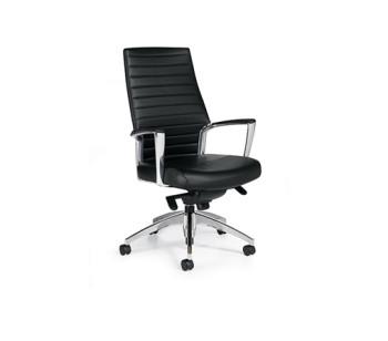 Accord Hi-Back Leather Chair - Black